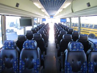 Interior of Coach Bus